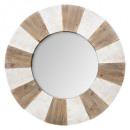 hout reliëf spiegel d90, beige