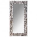 espejo de madera en relieve 80x166, multicolor
