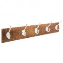 Patere madera 5 ganchos 74x15, marrón