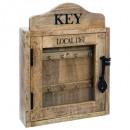 Caja para llaves de madera 30x40, marrón