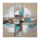 pintura abstracta lienzo 48x48, 2- veces surtido t