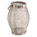 lanterne spir metal h24, argent