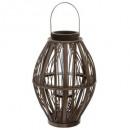 lanterne tresse brun d27,5xh39, marron