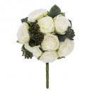 bouquet compose rose h36, blanc
