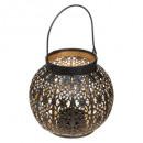 wholesale Wind Lights & Lanterns: lantern metal rd ajour d15, black