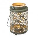 box lantern metal aop h13,5, 18- times assorted ,