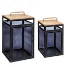 wholesale Home & Living: set x2 lantern archi max h48, black