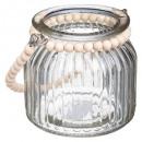 Tealight cuentas de vidrio acogedor h10, transpare