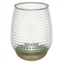 wholesale Fashion & Apparel: tealight holder base gold cozy h15, transparent
