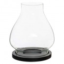 wholesale Drinking Glasses: candle holder wood glass d18xh20,5, 2- times assor
