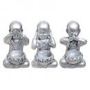 photophore bouddha sagesse x3 h11,5, 2-fois assort