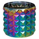cristal tealight h8,5 pavo real, multicolor