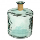 h45 recycled glass vase, transparent