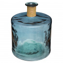 h45 recycled glass vase, blue