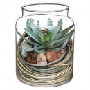 artificial plant + natural jar, 2- times assorted