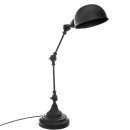 lámpara de metal negro h55 basalto, negro
