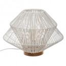 white rattan lamp h33 ludza, white