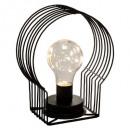 microled box h18 metal lamp, black