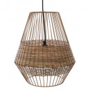 cheraw metal + wicker pendant, brown