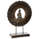 resin buddha on support h50, brown
