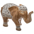 elephant resin h24cm, brown