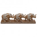 Elefantendekoharz x3 l46, braun