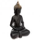 bouddha assis noir / or h39,5, noir