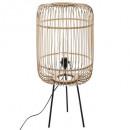 trípode lampadr espigas de bambú, beige