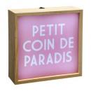 mayorista Carteles y paneles publicitarios: Caja de luz acogedora 20x20 cm, multicolor.