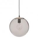 hanging glass ball smoke archi d25, smoked gray