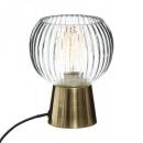 lámpara de cristal transparente laye h19,5, oro