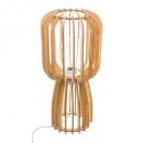 Shelby wood floor lamp, medium beige