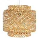 lámpara colgante liby natural d40, beige