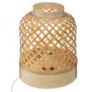 lámpara de pie de bambú h30, beige medio