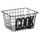 basket black metal storage cook, black