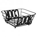 cesta de metal 24cm negro cook, negro