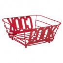 cesta metálica 24cm rojo cocinero, rojo