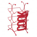 rack bouteille rouge x6 cook, rouge