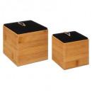 lote blackbamboo box x2, negro