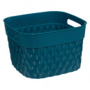 square basket 4l blue disco, blue