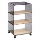 metal / wood shelf 3 compartments