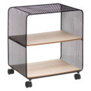 estante de metal / madera 2 cajas