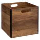 storage box 31x31 industrial wood, colorless