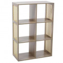 6 box shelf mix can nat, colorless