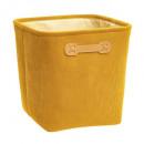 opbergdoos 31x31 in velvet cotele ja, geel