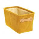 opbergdoos 15x31 in velvet cotele ja, geel