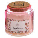 scented candle glass + cork 300g, 4-fold assorted