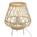 bamboe klaverbladlamp h31 ritueel, beige