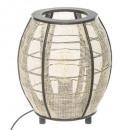 lámpara de bambú h27cm, blanco y negro