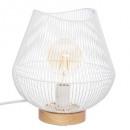 lámpara de metal alambre blanco h28 jena, blanco